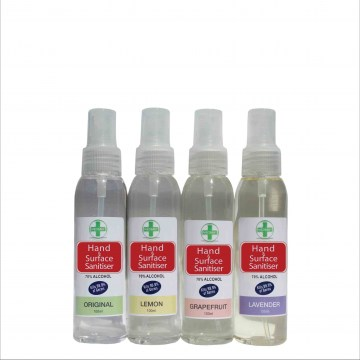 100ml anitbacterial hand and surface sanitiser spray2