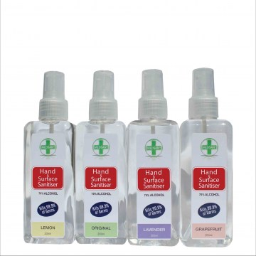 200ml anitbacterial hand and surface sanitiser spray9
