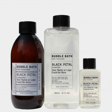 black petal bubble bath toiletries to hotels