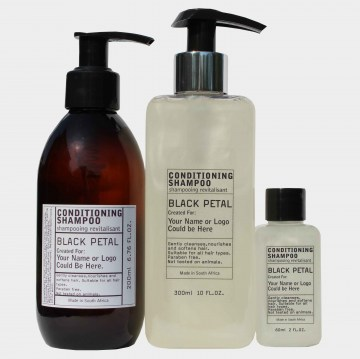 black petal conditioning shampoo amneities and toiletries