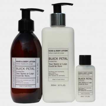 black petal hand and body lotion guest amenities