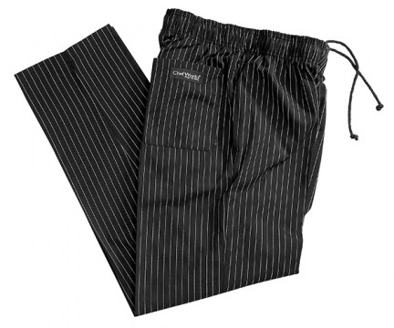 chef works pin stripe pants