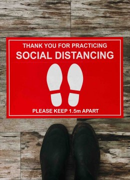 h001 social distancing poster
