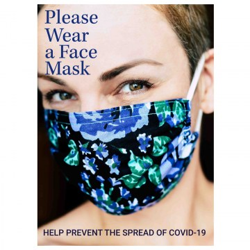 k002 wear a face mask covid-19 poster