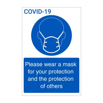 k003 wear a mask sign and poster coronavirus