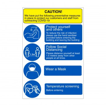 l002 prevention and protection sign and poster covid-19