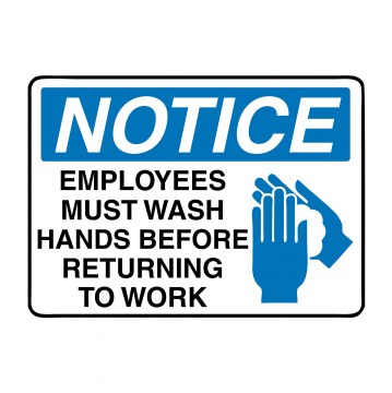 m002 wash hands before returning to work covid-19 signs