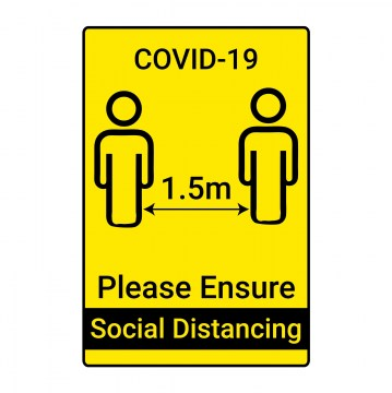 n001 social distancing sign covid-19