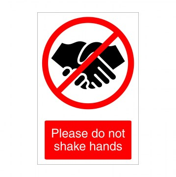 n002 do not shake hands covid-19 sign